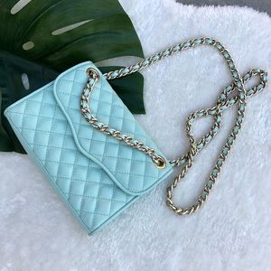 Rebecca Minkoff mint quilted purse
